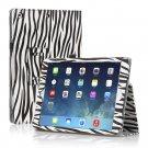 New Zebra Black Slim PU Leather Case Cover For Apple iPad 1 1st Gen