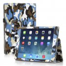 New Camouflage Blue Slim PU Leather Case Cover For Apple iPad 1 1st Gen