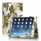 New Camouflage Green Slim PU Leather Case Cover For Apple iPad 1 1st Gen