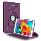 New Purple PU Leather Smart Case Cover For Samsung Galaxy Tab 3