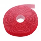 5 Yard Roll Hook and Loop Velcro Style Cable Wire Cord Strap Tie Holder 15Ft Red