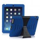 Blue Silicone Kickstand Case Cover for iPad Air 4 3 2 iPad Mini