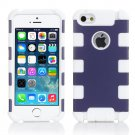 Purple Hybrid Rugged Rubber Matte Combo Soft Hard Case For Apple iPhone 5S 5