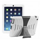 White Silicone Kickstand Case Cover for iPad Air 4 3 2 iPad Mini