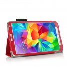 New Red Samsung Galaxy Tab S 8.4 10.5 Folio Case Cover Stand