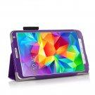 New Purple Samsung Galaxy Tab S 8.4 10.5 Folio Case Cover Stand