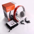 Red Bluetooth Headphones with FM Card Read for all Tablet Cell Phone PC