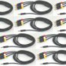 New Lots of 10 XBox 360 E Composite AV Cable RCA