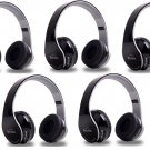 5Pcs Wireless Stereo Bluetooth Headphone for Mobile Cell Phone Laptop Tablet