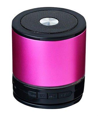 NEW Red Portable Metal Wireless 3W Mini AEC Bluetooth Speaker HiFi Handsfree Mic