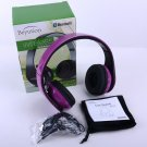 Purple Stereo Hi-Fi Bluetooth Headphones Headset for Mobile Cell Phone Laptop PC