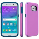 New Samsung Galaxy S6 Candy Shell Hard Shell Case Cover Purple/Blue