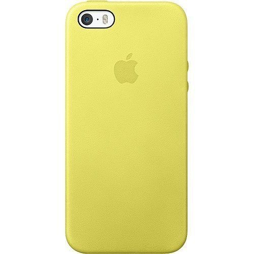 Genuine Apple Leather Case for Iphone 5 - 5s Mf043lla Yellow
