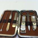 New 6 In 1 Nail Care Manicure Set nail file-Clipper Scissors-Tweezer-Ear Pick
