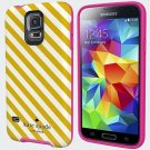 Kate Spade New York Diagonal Stripe Hybrid Hard Shell Case for Samsung Galaxy 5
