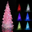 Christmas Tree Ice Crystal Colorful Changing Led Desk Decor Table Lamp Light