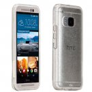 New Case-Mate HTC One M9 2015 Sheer Glam Case Cover Clear Champagne Glitter Gold