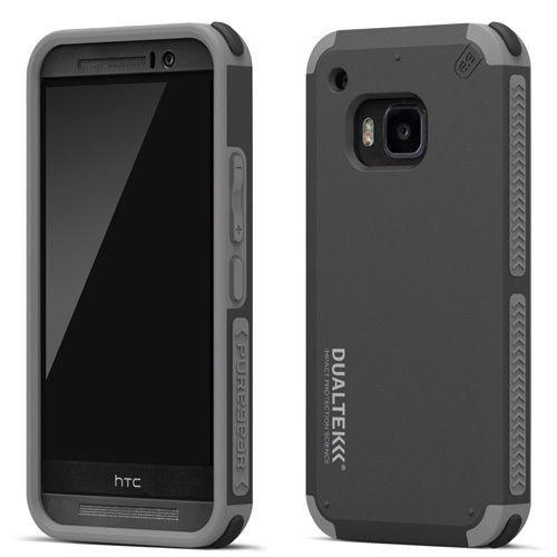 PureGear Dualtek Extreme Shock Impact Hard Cover Case for HTC One M9 Black Gray