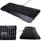 LED Backlight Backlit Usb Wired Illuminated Game Gaming Keyboard for PC Blue