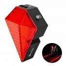 OxyLED BTL10 8 LED rechargeable Bike Cycling Safety Zone Tail Light 2 Red Laser