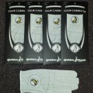 New 4 Pack Cabretta Leather Golden Eagle Golf Glove Ladies Medium