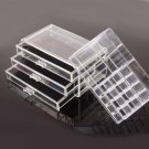 Cosmetics Organizer Clear Acrylic 3 Drawers Display Box Storage