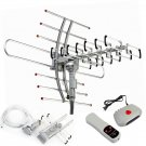 HDTV 1080P Outdoor Amplified Antenna 360° Rotor Digital HDTV UHFVHF FM 150 Miles