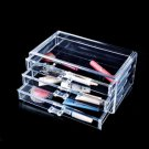 New Makeup Cosmetics Organizer Clear Acrylic 3 Drawers Display Box Storage