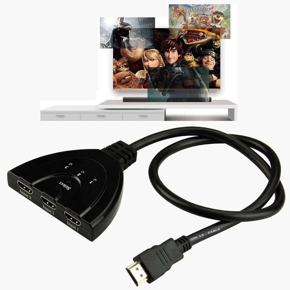 3 Port HDMI 1.3 1080p Switcher Switch Splitter for HDTV DVD PS3 Xbox 360