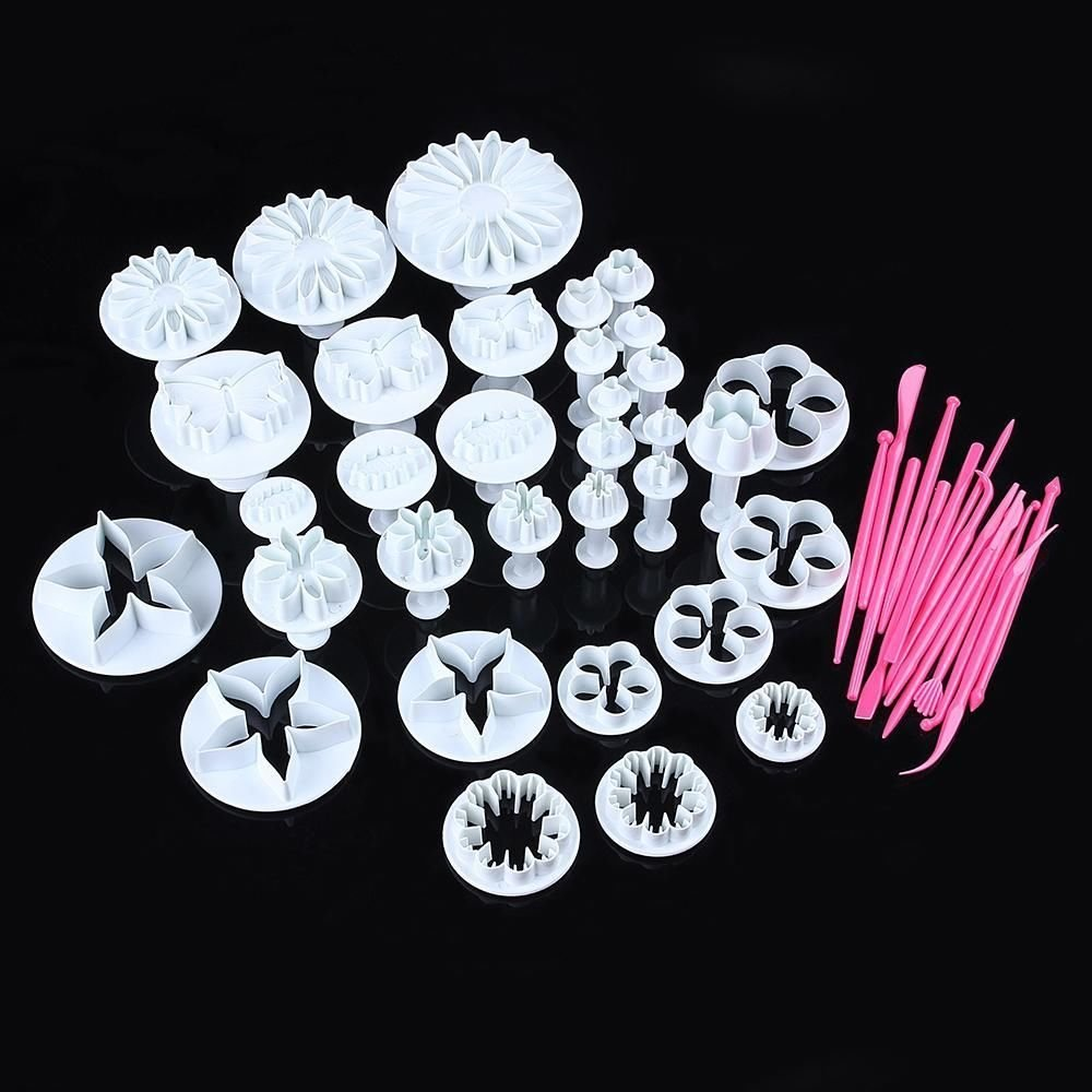 New 47 PCS Sugarcraft Plum Flower Plunger Fondant Mold Cutter Cake Cookie Decor