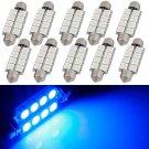 10 x New Ultra Blue 42MM Festoon 569 578 211-2 Interior Dome Map LED Light bulbs