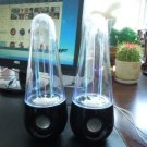 USB Water Fountain Speakers Dancing LED Lights Laptop PC MP3 Phone Audio Sound