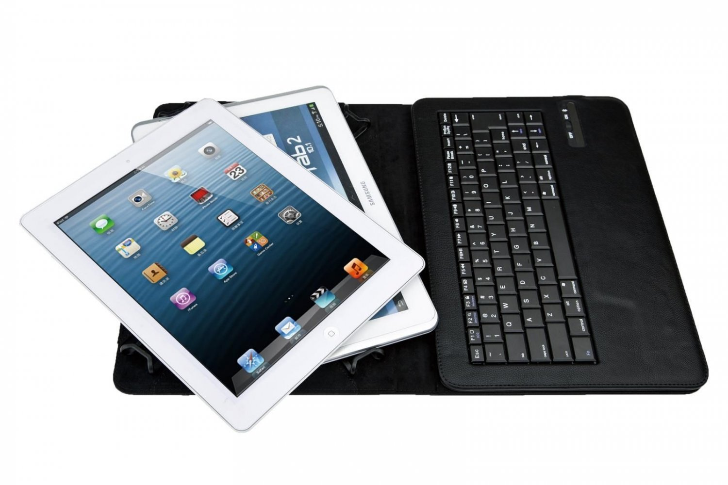tooth Keyboard PU Case Cover For 9-10 inch Android IOS Windows