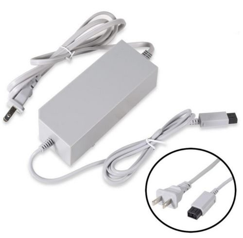 w Nintendo Wii Generic Home Wall AC Power Adapter Supply Cord Cable