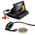 r TFT LCD Monitor Waterproof Reverse Car Rear View Backup Camera Kit 170°