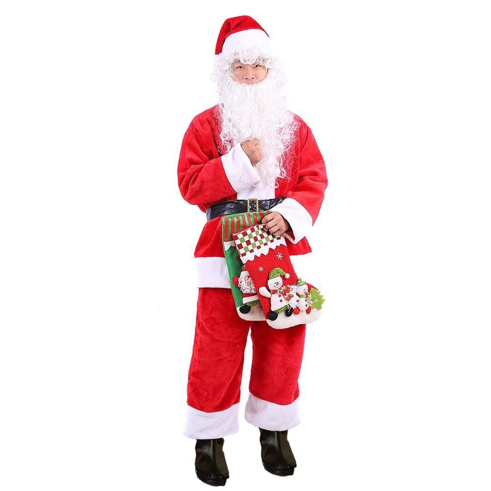 New Costume Adult Mens Red Santa Claus Suit X-Large Christmas