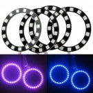 4 x 70mm SMD-Ring LED Car Multi-Color RGB LED Angel Eyes Halo Rings Kit