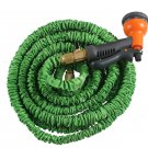 e Double Latex 100 Ft Expandable Garden Water Hose Spray Nozzle