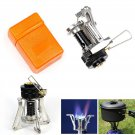 Ultralight Outdoor Backpacking Canister Foldable Mini Camping Stove Gas Burner