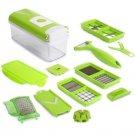 Multi-function Fruit Vegetable Slicer & Peeler Cutter Chopper Kit Set Green
