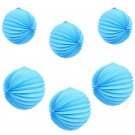 Blue Ball Accordion Paper Lanterns Wedding Birthday Party Decorations 8 12
