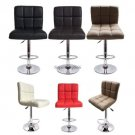 2 x Home Office Bar Stool PU Leather Barstools Chair Adjustable Counter Swivel