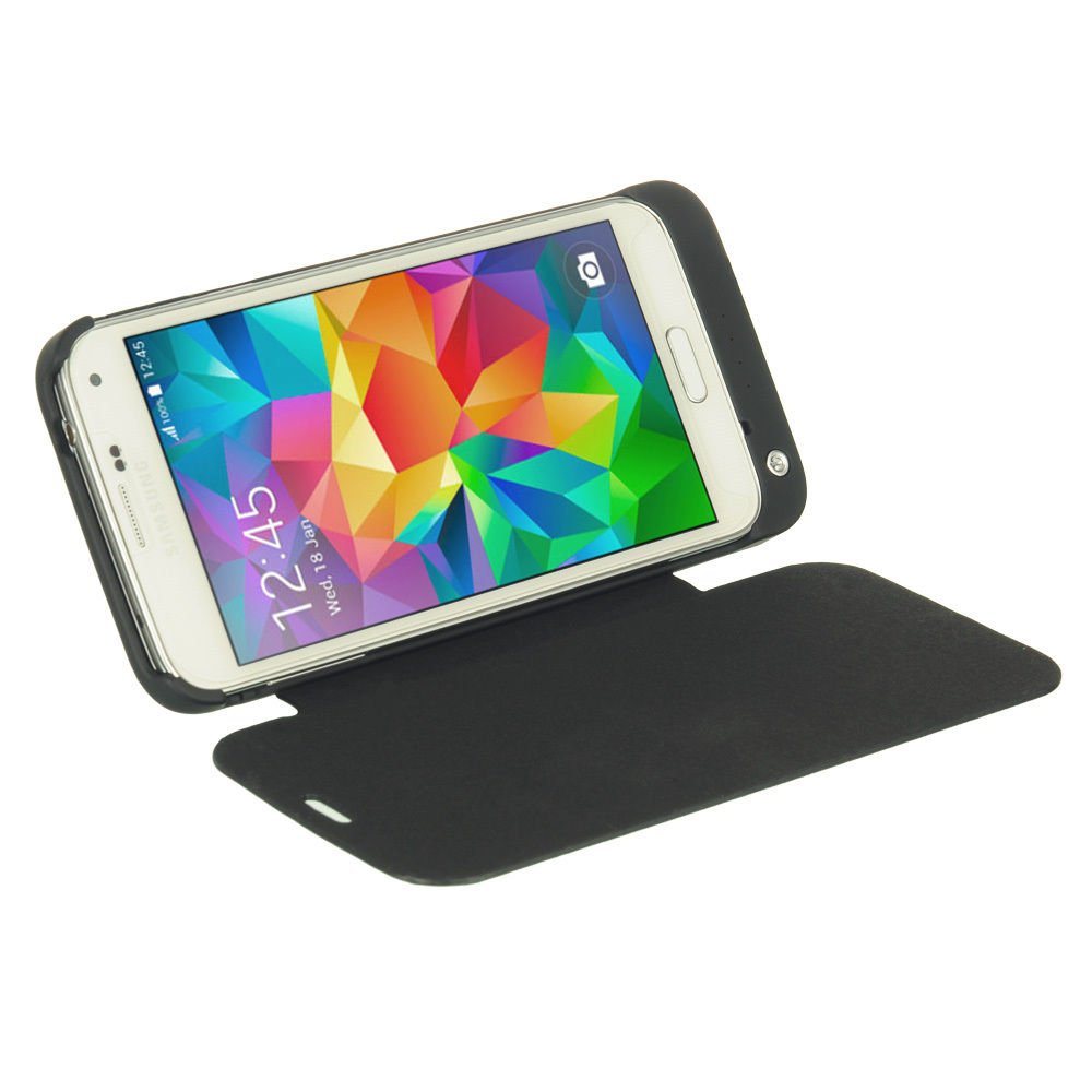 New 3200mAh Backup Battery Charger Case Cover Power Bank For Samsung Galaxy S5 BLK