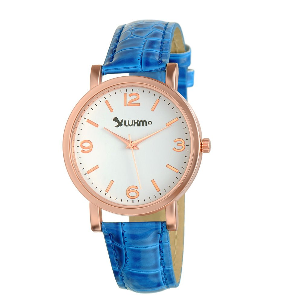 New Women's Analog Display Quartz Watch With CROCO Leather