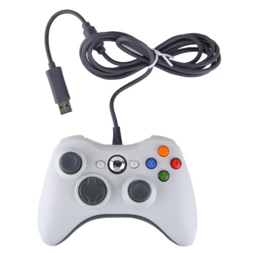 SB Wired Gamepad Game Controller For Microsoft Xbox 360 PC Windows White
