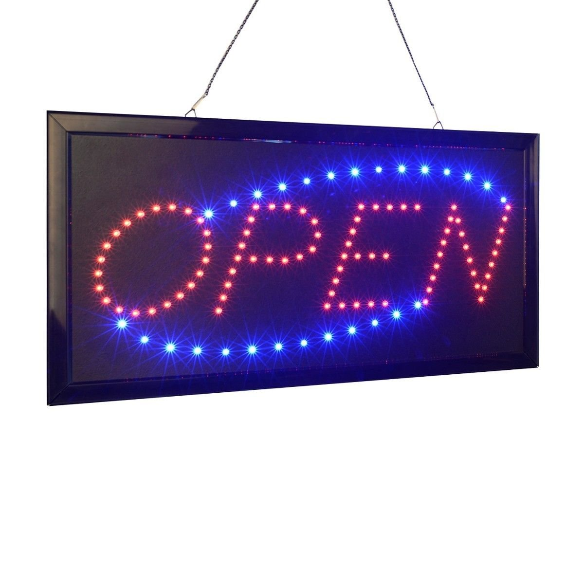 mated Motion Running Neon LED Business Store Shop Open Sign Chain