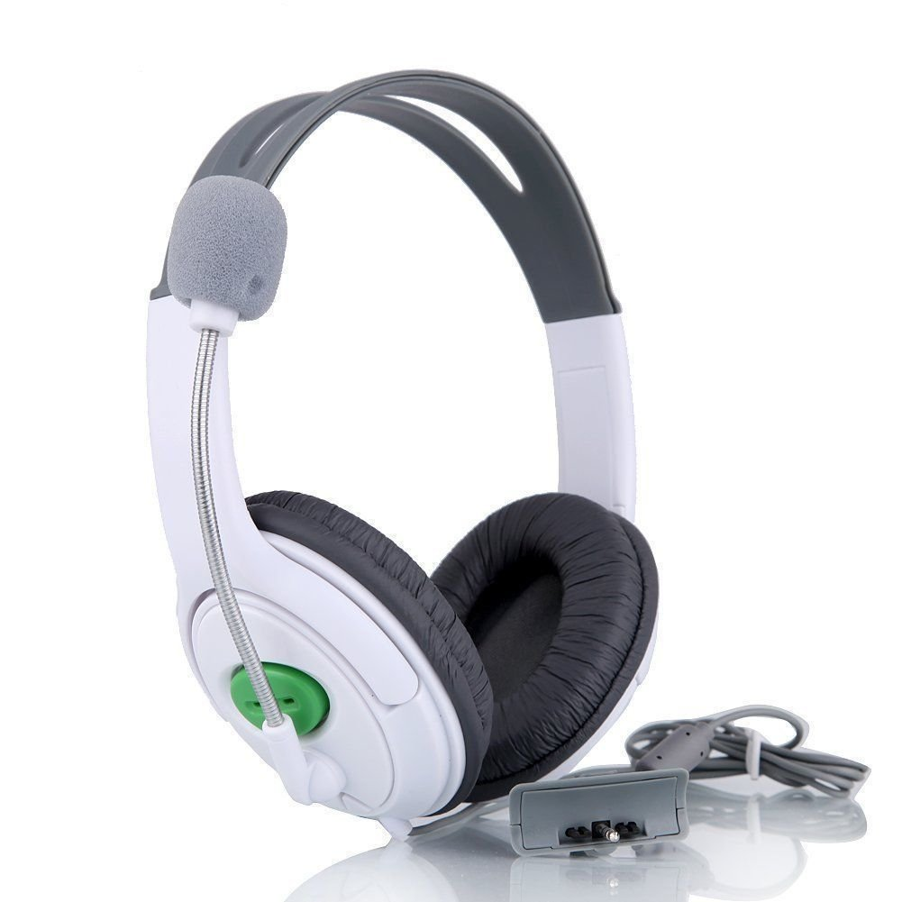 New Headset Headphone with Microphone Mic for Microsoft Xbox 360 Live Controller