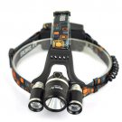New 6000LM 3x CREE XM-L2 Rechargeable Headlight HeadLamp Headlight Head Torch