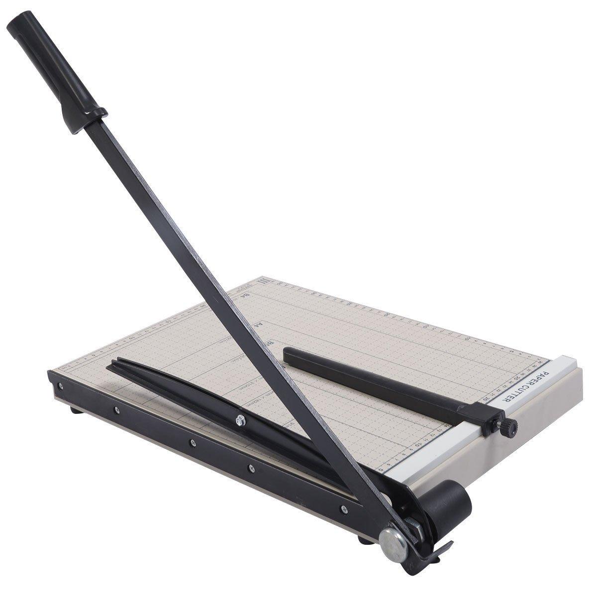 15 inch Sturdy Metal Base Paper Cutter Trimmer Scrap Booking Guillotine 15x12