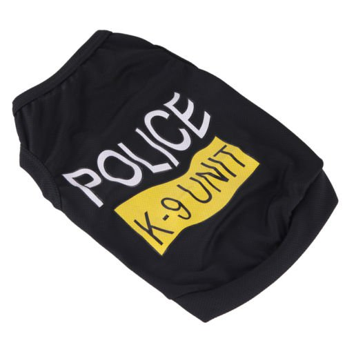 Pet Small Puppy Dog Cool Clothes Vest Police K9 Cool Summer T-shirt Any Size